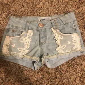 Lace front Jean shorts